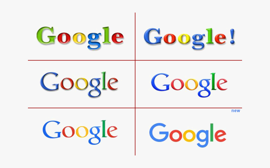 Iconic Google Logo Evolution Over Years Png Transparent - Google Logo Evolution, Png Download, Free Download