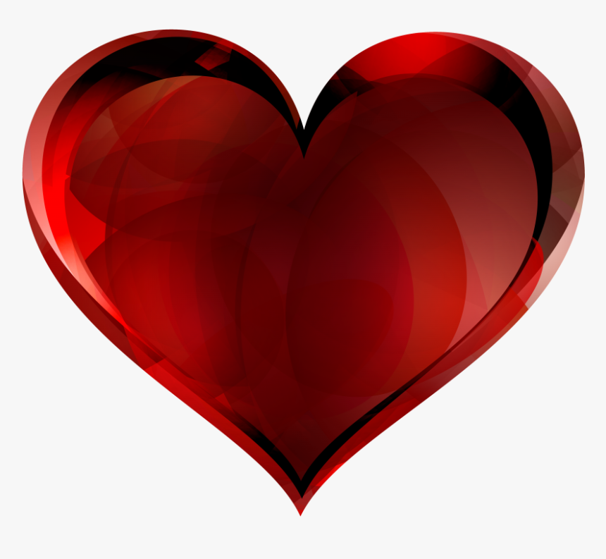 Red Glass Heart Png Image - Love Hearts No Background, Transparent Png, Free Download