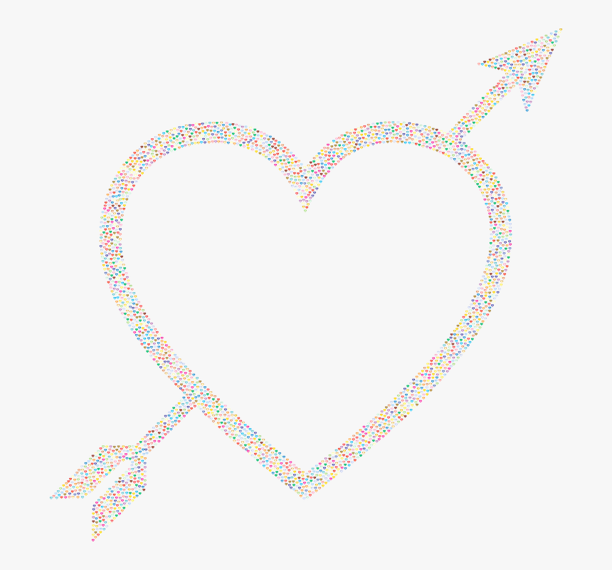 Heart Arrow Png, Transparent Png, Free Download