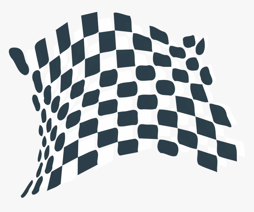 Checkerboard Black And White Wavy, HD Png Download, Free Download