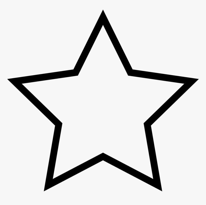 Transparent Black Star Outline Clipart , Png Download - Star Outline Transparent, Png Download, Free Download