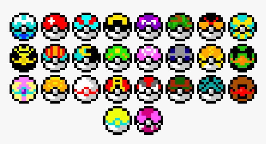 All Pokeballs Pixel Art, HD Png Download, Free Download