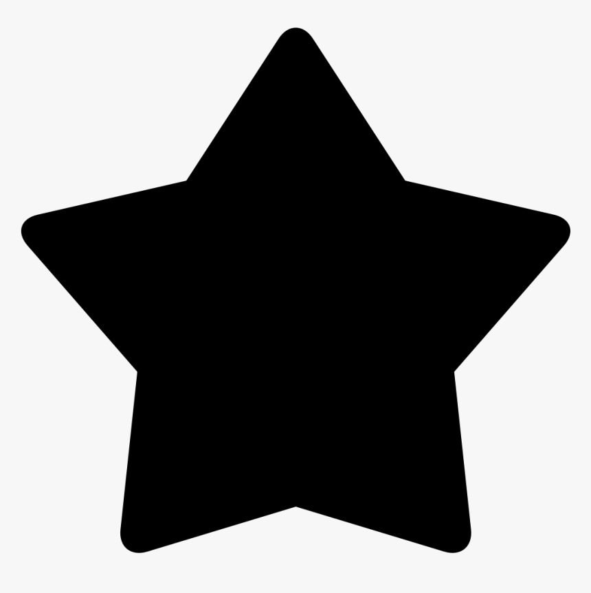 Shape Star Point Clip Art - Png Star Black Icon, Transparent Png, Free Download