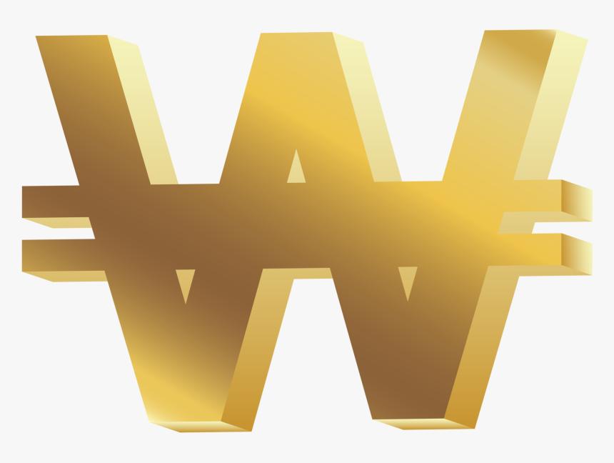 Won Symbol Png Clip Art - Won Sign, Transparent Png, Free Download