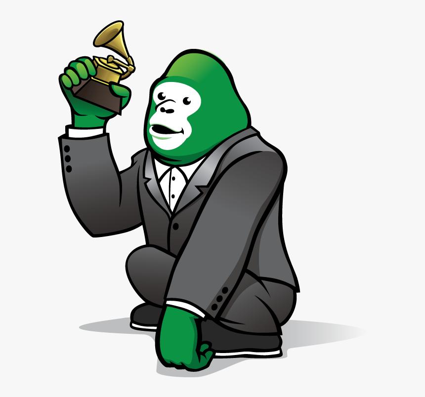 Green Gorilla Cartoon, HD Png Download, Free Download