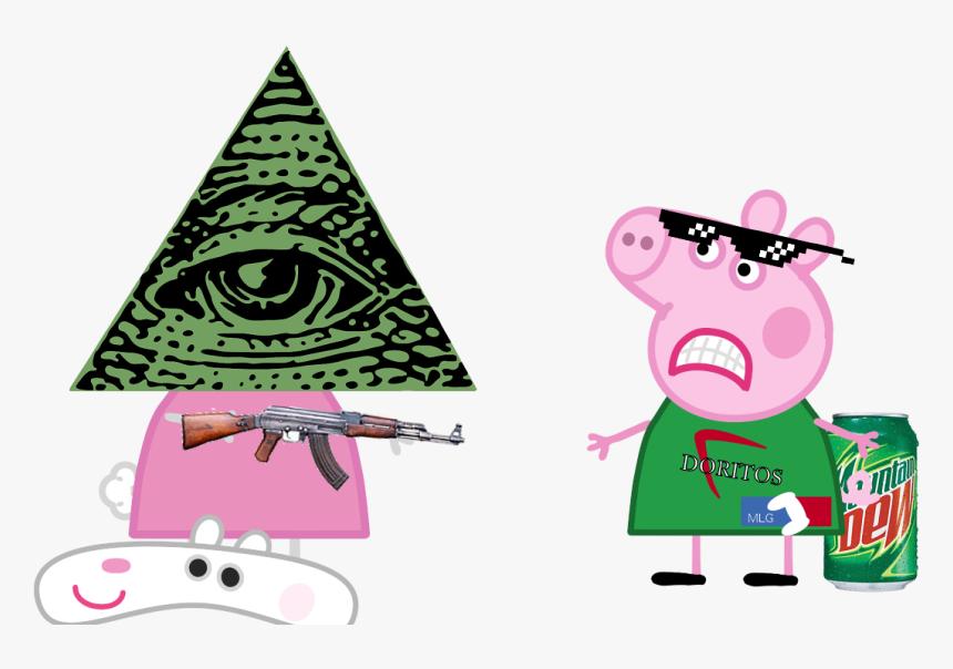 Transparent Peppa Pig Clipart - Transparent Mlg Peppa Pig, HD Png Download, Free Download