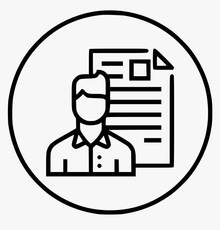 Man Resume Document Employee Shortlisted Portfolio - Unique Website Visitors Icon, HD Png Download, Free Download