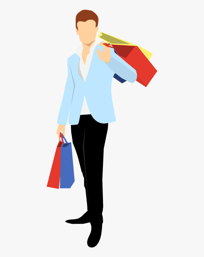 Shopping Man Vector Png Clipart , Png Download - Fashion New Year 2019, Transparent Png, Free Download