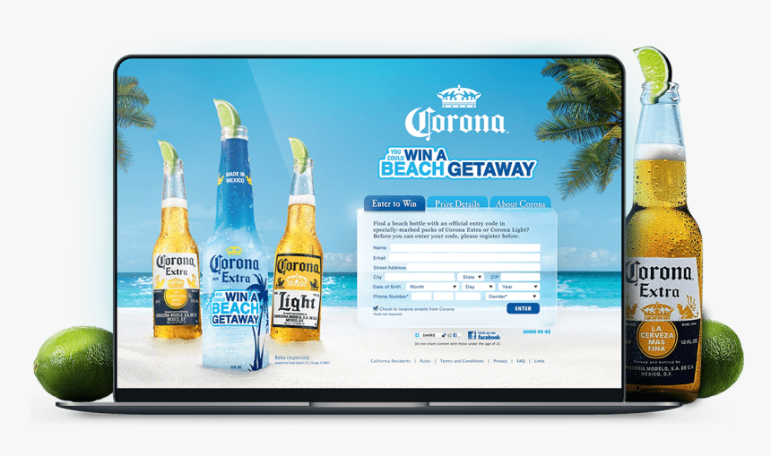 Corona Beer Beach Png, Transparent Png, Free Download