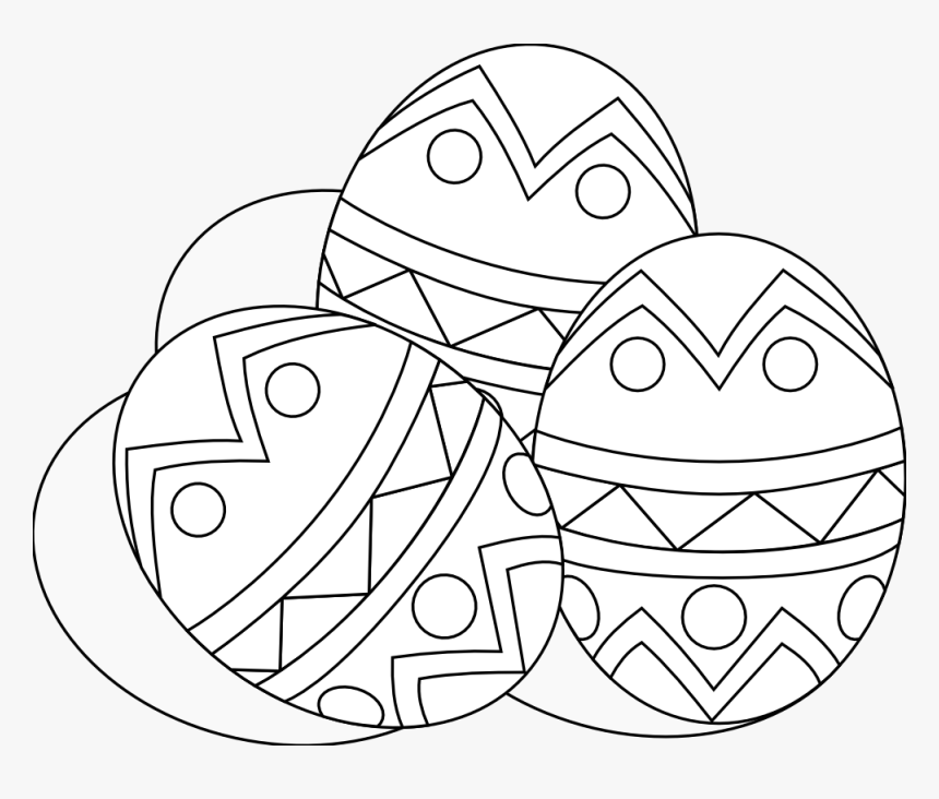 Black And White Eggs - Transparent Easter Eggs Clipart Black And White, HD Png Download, Free Download