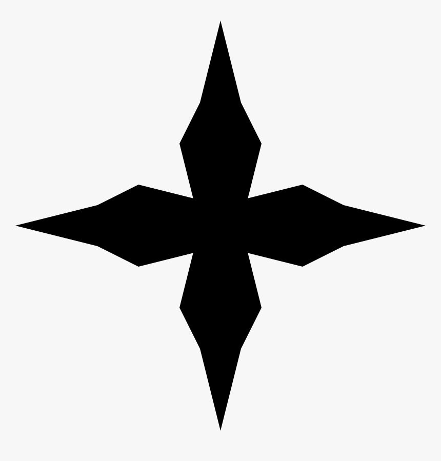 Cross 3d Clipart - Art Nouveau Star Png, Transparent Png, Free Download
