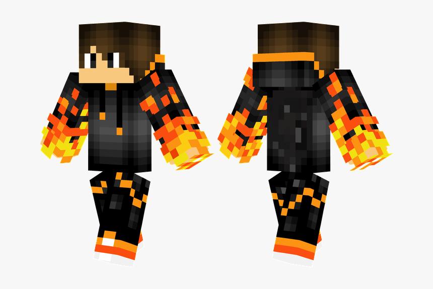 Minecraft Skin Green Shirt , Png Download - Fire Hoodie Minecraft Skin, Transparent Png, Free Download