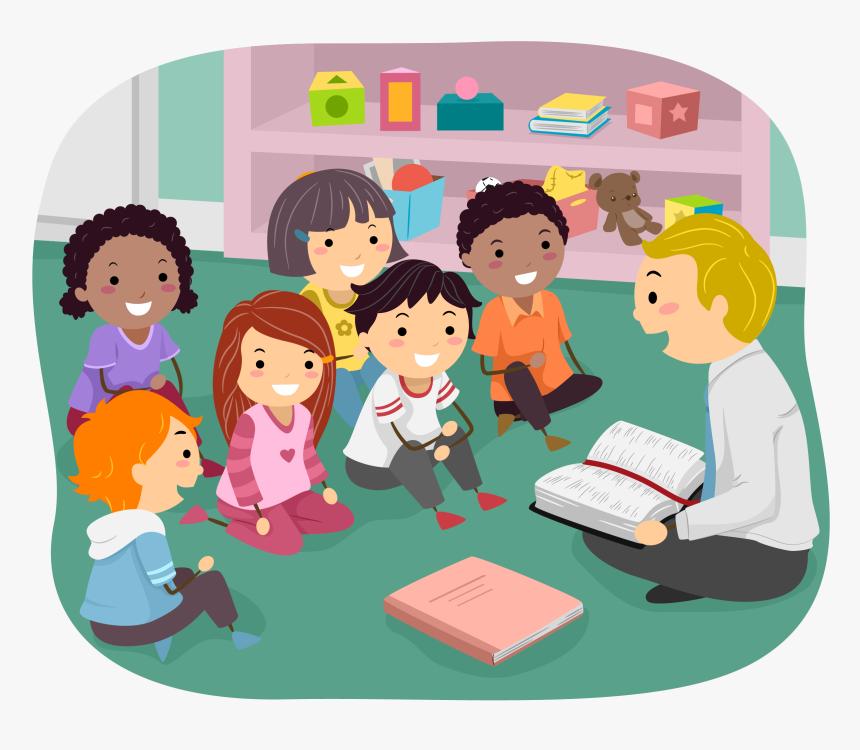 Children In Sunday School Clipart Banner Free Stock - Sunday School Teacher Clipart, HD Png Download - kindpng