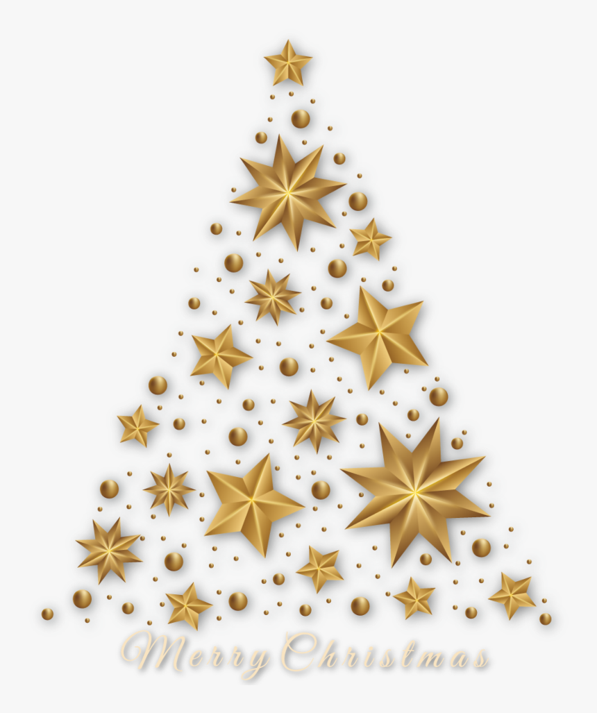 #ftestickers #christmas #tree #merrychristmas #gold - Gold Star Christmas Tree Png Designs, Transparent Png, Free Download