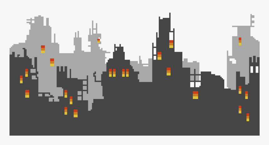 Transparent Pittsburgh Skyline Clipart - City Pixel Art Png, Png Download, Free Download