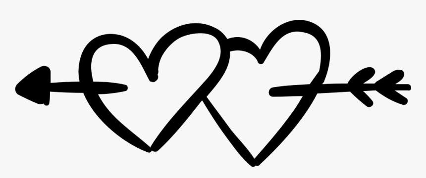 Hearts Pierced By An Arrow Comments - Heart With Arrow Transparent Background, HD Png Download, Free Download