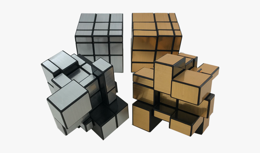 Gold And Silver Mirror Cubes Rubik S Cube Hd Png Download Kindpng