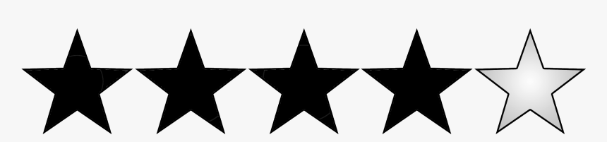Black 4 Star Rating, HD Png Download, Free Download