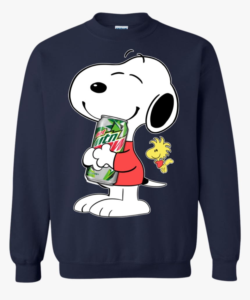 Cute Snoopy Hug Mountain Dew Can Funny Drinking Shirt - Snoopy Coca Cola, HD Png Download, Free Download