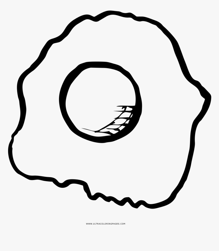 Cleveland Browns Coloring Pages With Fried Eggs Egg - Eggs Fried Da Colorare, HD Png Download, Free Download
