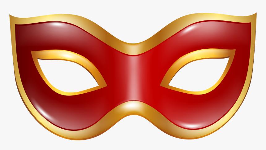 Carnival Mask Red Transparent Png Clip Art Image - Mask Transparent Background, Png Download, Free Download