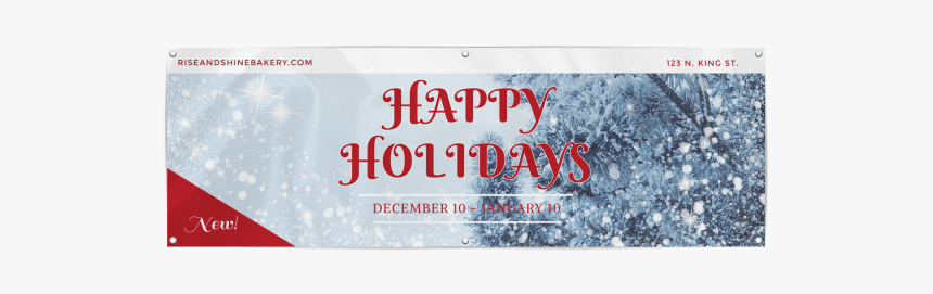 Happy Holidays Banner Template - Flag, HD Png Download, Free Download