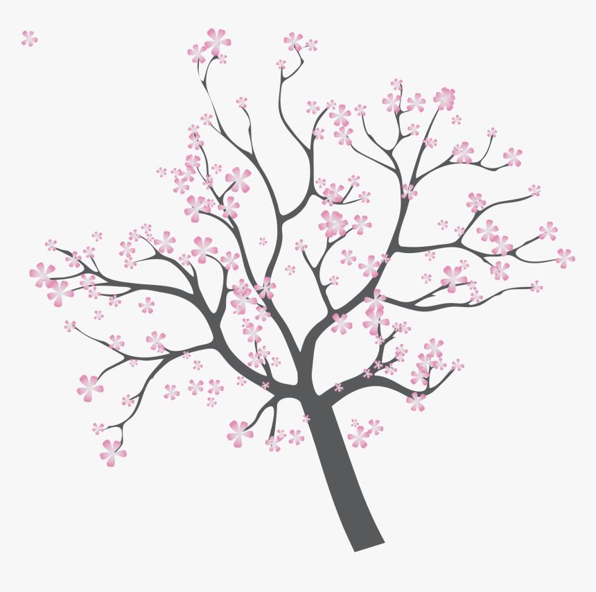 Sunset Illustration Branches Transprent - Illustration, HD Png Download, Free Download