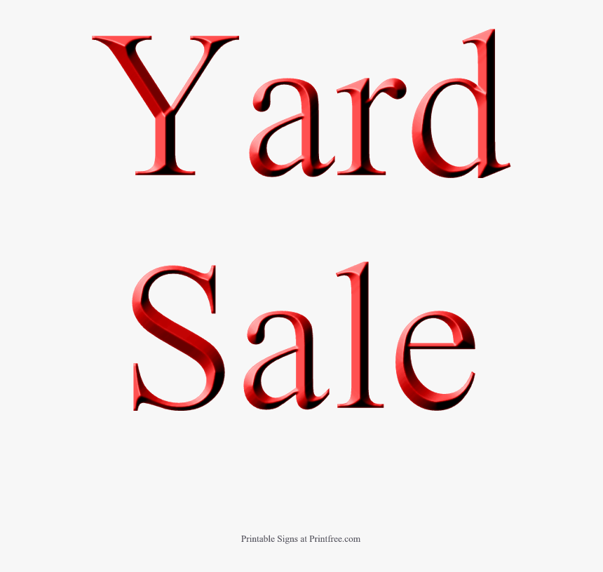 Yard Sale Sign, Red - Yard Sale Sign, HD Png Download, Free Download