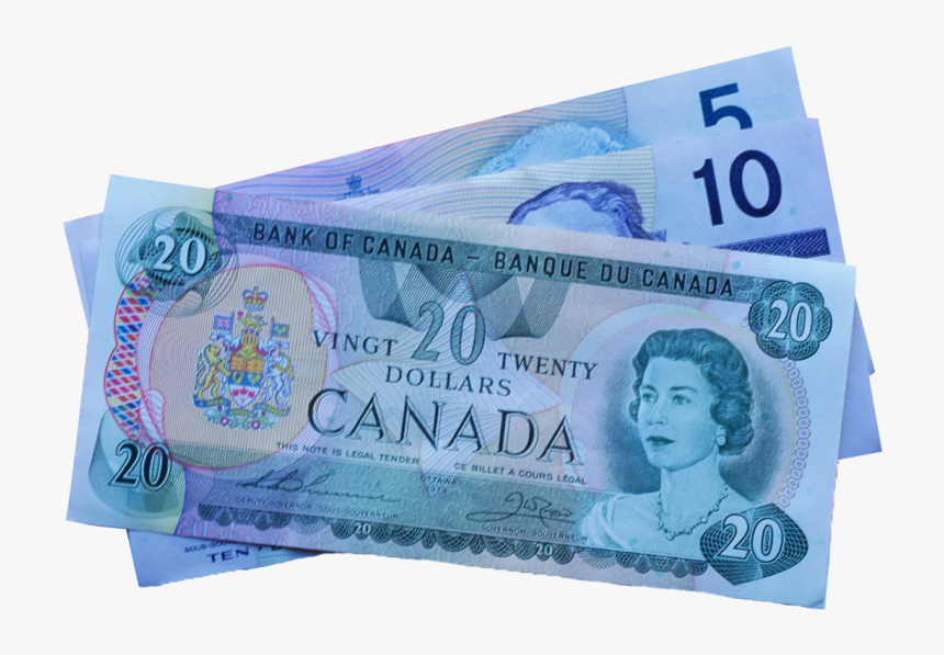 5, 10, And 20 Canadian Dollar Notes Png Image - Canadian Dollar Photo Download, Transparent Png, Free Download