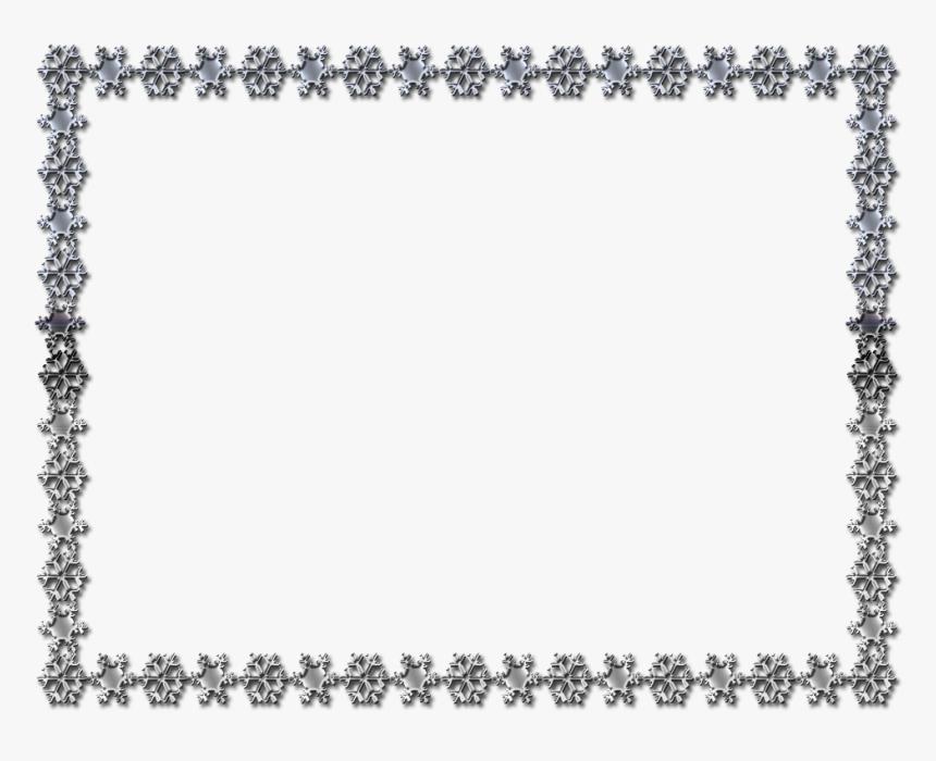 Clip Art Imitation Gemstones & Rhinestones Bling-bling - Snowflake Border Black And White, HD Png Download, Free Download
