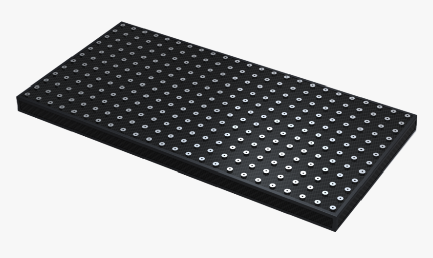 Carbon Fiber Breadboard With Protruding Inserts 1 - Carbon Fiber Optical Table, HD Png Download, Free Download