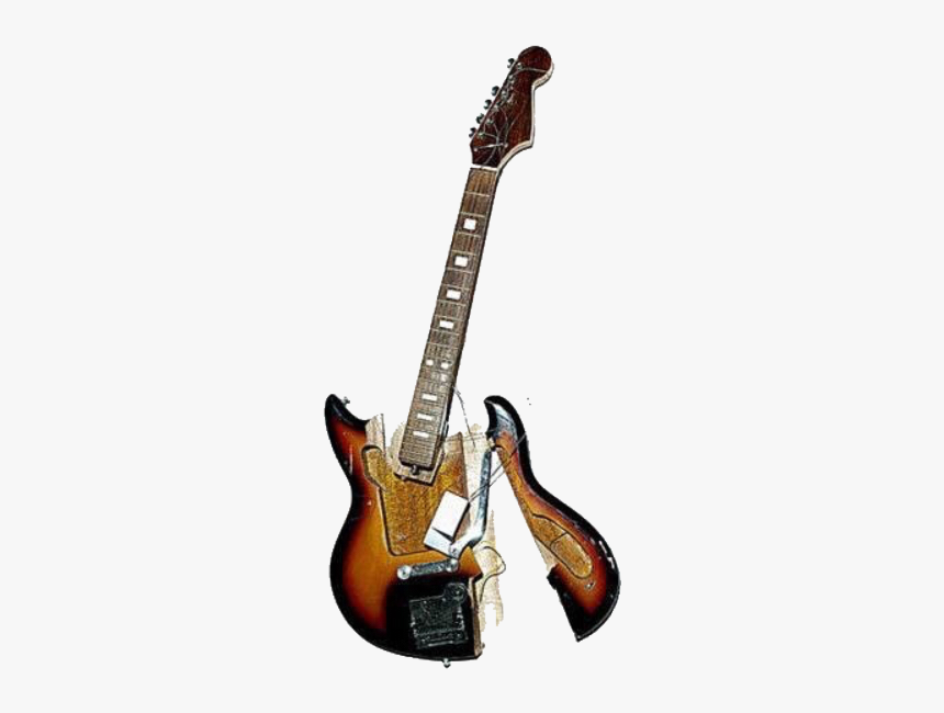 #moodboard #niche #aesthetic #guitar #broken #music - Smashed Guitar Png, Transparent Png, Free Download