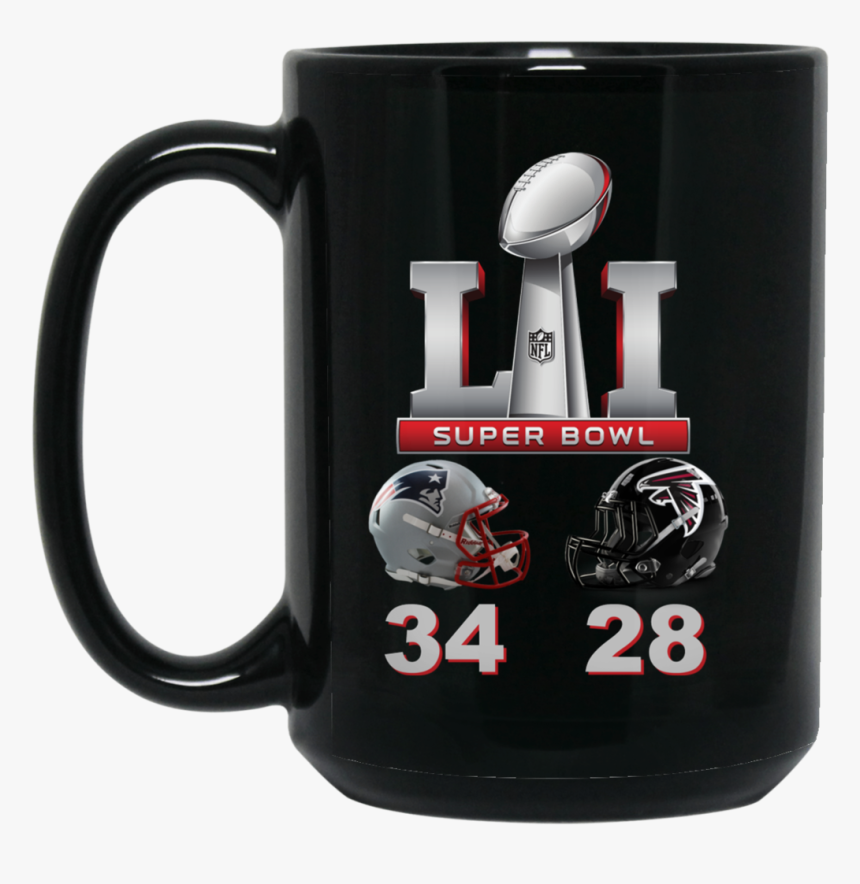 Super Bowl 51 Final Score Bm15oz 15 Oz - Mug, HD Png Download, Free Download