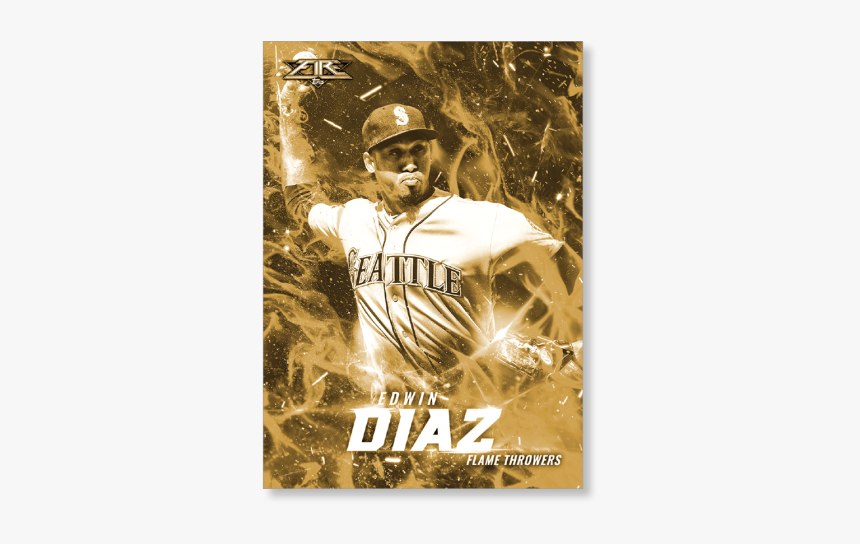 Edwin Diaz 2017 Topps Fire Flamethrowers Poster - Poster, HD Png Download, Free Download