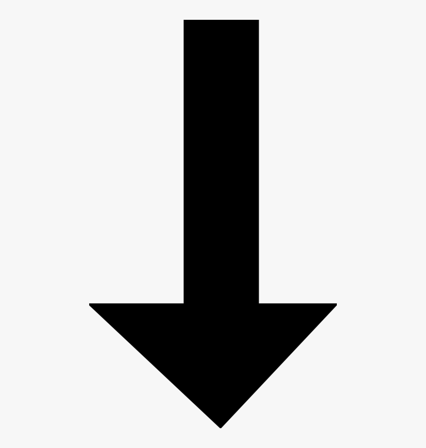 Arrow Pointing Down - Arrow Pointing Down Png, Transparent Png, Free Download