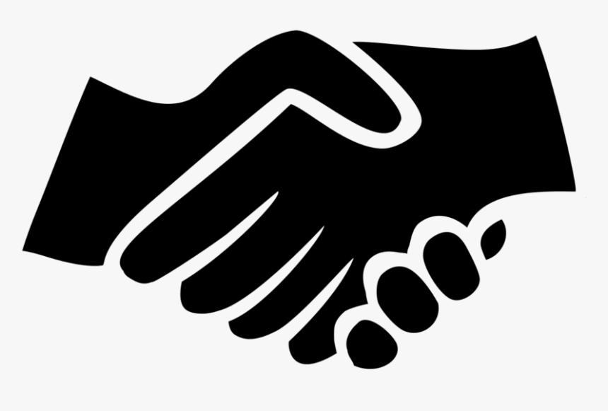 Black Handshake Icon - Hand Shake Black And White Png ...