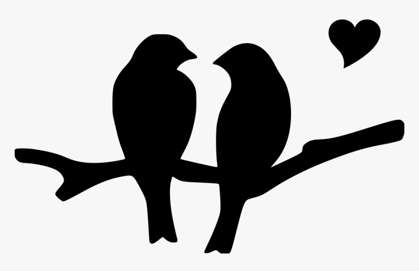 Love Birds Silhouette Clip Art Black And White Birds Clipart Hd Png Download Kindpng