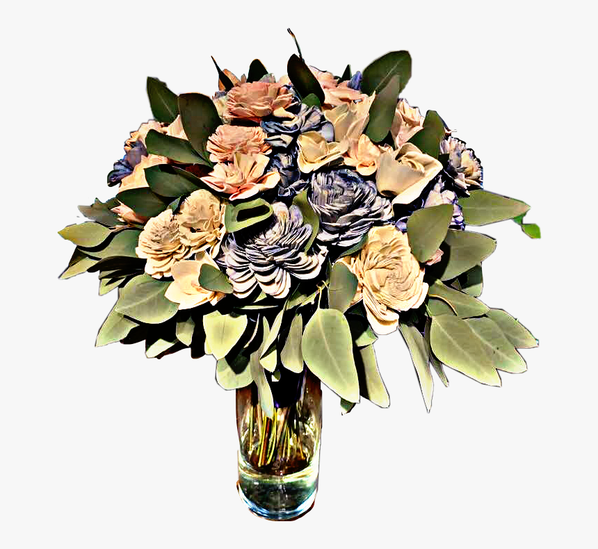 #vase #flowers #leaves #bouquet #beautiful #love #freetoedit - Bouquet, HD Png Download, Free Download