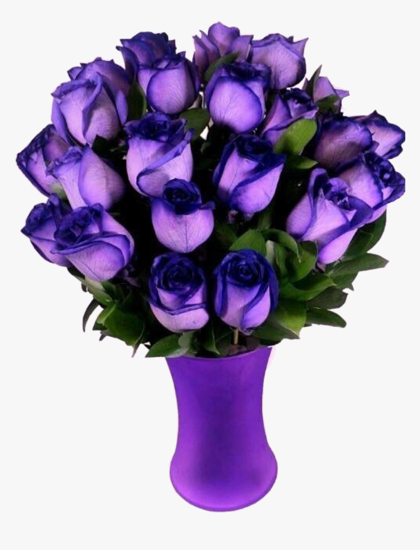 #purple #vase #roses #flowers #beautiful #freetoedit - Most Beautiful Purple Flower In The World, HD Png Download, Free Download