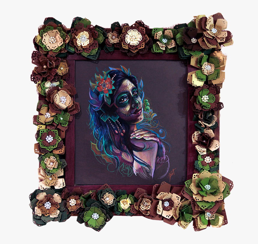 Day Of The Dead Picture Frames Png, Transparent Png, Free Download