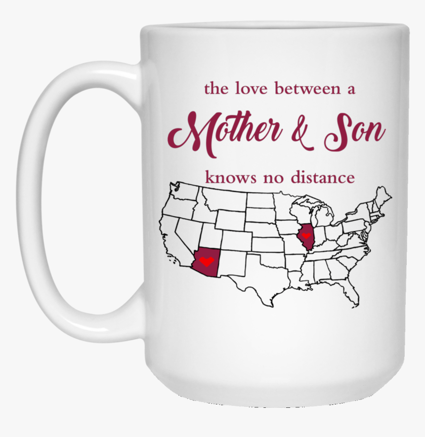 """Illinois Arizona The Love Mother And Son""""  Class=""""lazyload - United States Map Shapes, HD Png Download, Free Download"""