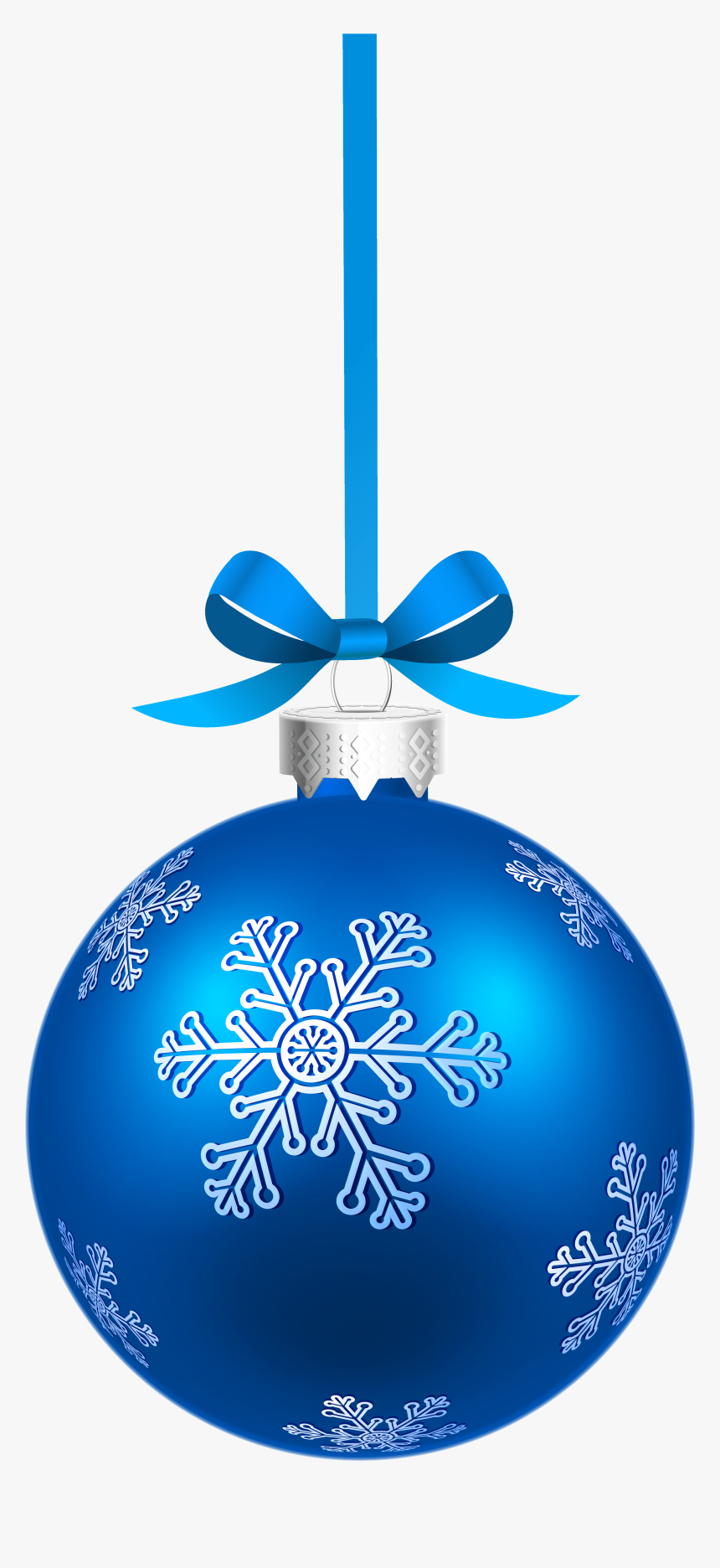 Blue Christmas Ornament Png, Transparent Png, Free Download