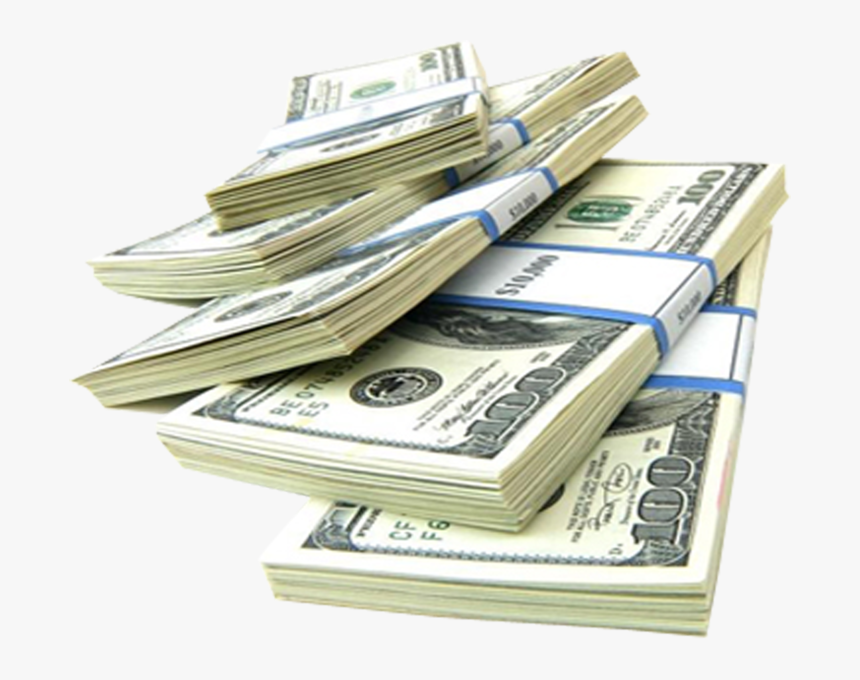 Money Investment Finance Funding Payment - 100 Dollar Bill Stack Transparent, HD Png Download, Free Download