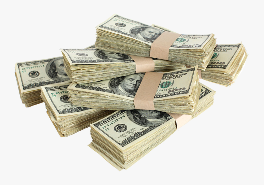 Stacks Of Money Transparent Background, HD Png Download, Free Download