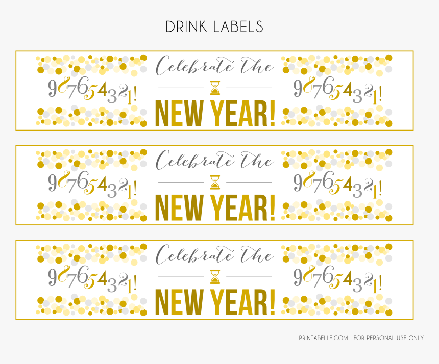 Transparent New Year Party Png - Happy New Year Printable Tags, Png Download, Free Download