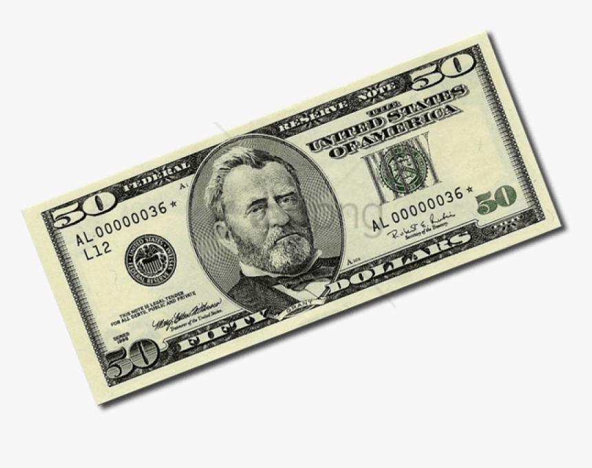 50 Dollar Bill Png - 50 Dollar Bill Transparent, Png Download, Free Download