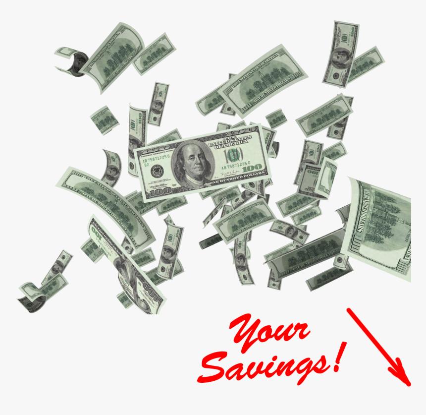 Transparent 100 Dollar Bills Clipart - 100 Dollar Bill, HD Png Download, Free Download