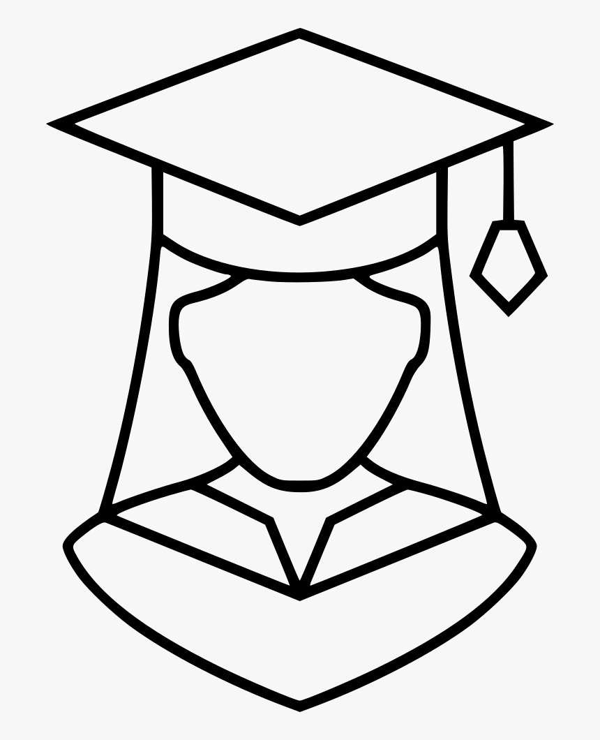 Graduation Girl Comments - Girl In A Graduation Cap Drawing, HD Png Download, Free Download