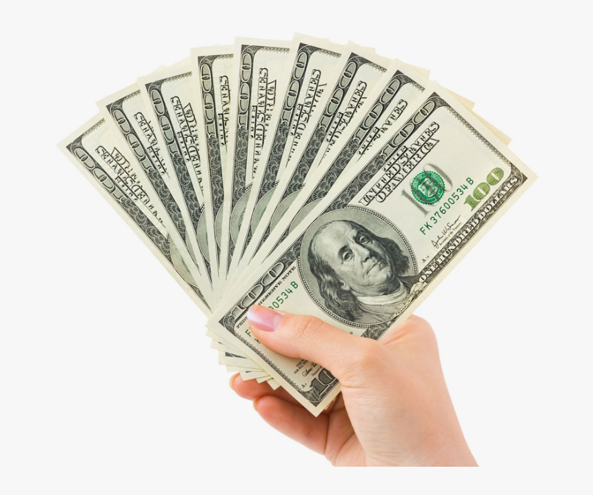 Are You Ready To Save Money - Hand Holding Money Png, Transparent Png, Free Download