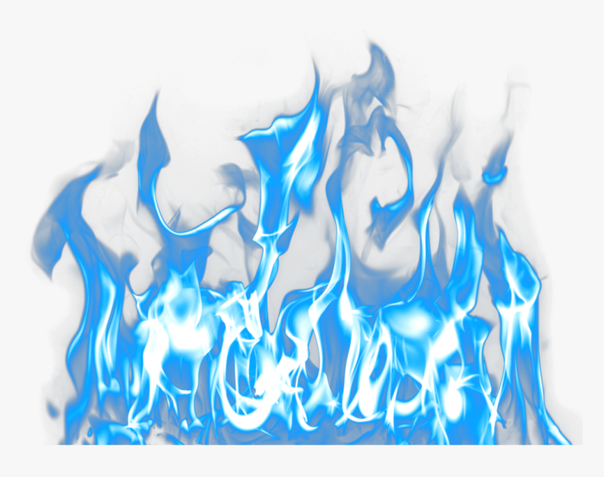 Transparent Smoke Overlay Png - Blue Fire No Background, Png Download, Free Download